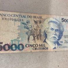Billetes extranjeros: BILLETE 5000 CRUZEIROS BRASIL. Lote 244507745