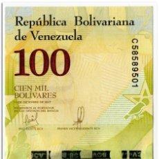 Billetes extranjeros: VENEZUELA,100000 BOLIVARES,2017,P.100B,UNC. Lote 244545495
