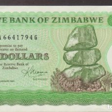 Billetes extranjeros: BILLETES - ZIMBABWE - 5 DOLLARS 1983 - SERIE BA-G - PICK-2C (SC). Lote 244717120