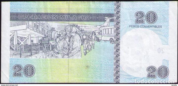 Billetes extranjeros: CUBA 20 PESOS CUC 2008 AU-EBC+ - Foto 2 - 244812875
