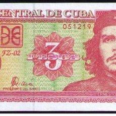 Billetes extranjeros: CUBA 3 PESOS 2005 REMPLAZO PLANCHA SC-UNC PICK 127BR. Lote 244813295