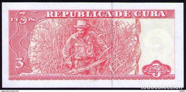 Billetes extranjeros: CUBA 3 PESOS 2005 REMPLAZO PLANCHA SC-UNC SECUENCIA PICK 127BR - Foto 4 - 244814115