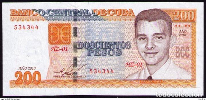 CUBA 2010 200 PESOS REMPLAZO PLANCHA SC-UNC PICK130AR (Numismática - Notafilia - Billetes Internacionales)