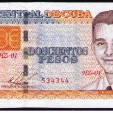 Billetes extranjeros: CUBA 2010 200 PESOS REMPLAZO PLANCHA SC-UNC PICK130AR. Lote 244816390