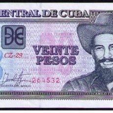 Billetes extranjeros: CUBA 2017 20 PESOS REMPLAZO PLANCHA SC-UNC PICK122LR. Lote 244817240