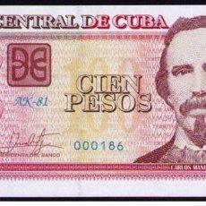Billetes extranjeros: CUBA 2017 100 PESOS Nº BAJO PLANCHA SC-UNC PICK129IR. Lote 244818140