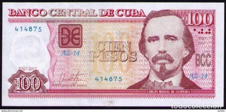 CUBA 2017 100 PESOS REMPLAZO PLANCHA SC-UNC PICK129IR (Numismática - Notafilia - Billetes Internacionales)