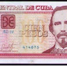 Billetes extranjeros: CUBA 2017 100 PESOS REMPLAZO PLANCHA SC-UNC PICK129IR. Lote 244819560