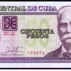Billetes extranjeros: CUBA 2018 50 PESOS REMPLAZO PLANCHA SC-UNC PICK123MR. Lote 244820315