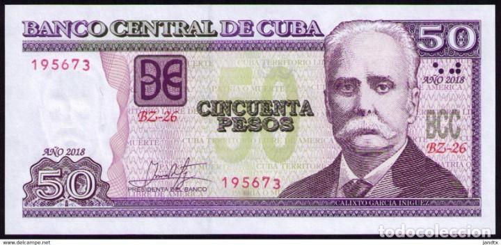 Billetes extranjeros: CUBA 2018 50 PESOS REMPLAZO PLANCHA SC-UNC SECUENCIA PICK123MR - Foto 2 - 244820510