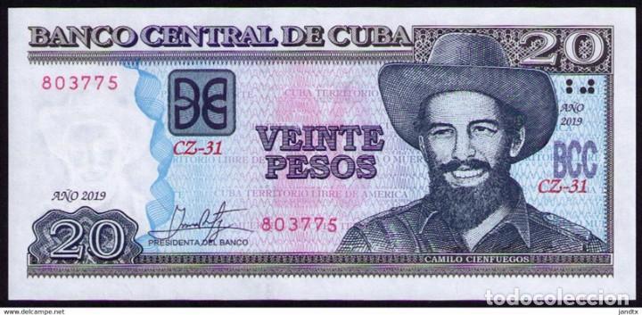 CUBA 2019 20 PESOS REMPLAZO PLANCHA SC-UNC PICK122MR (Numismática - Notafilia - Billetes Internacionales)