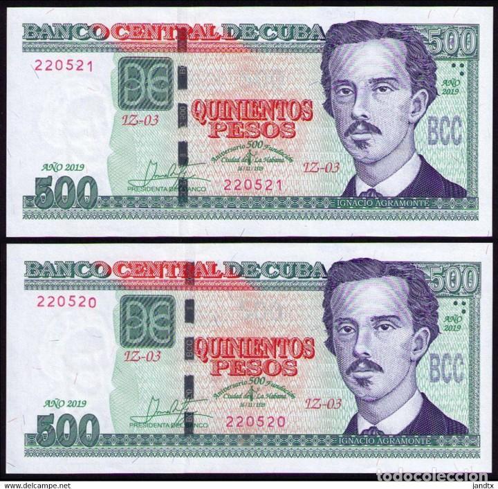 CUBA 2019 500 PESOS CONMEMORATIVO REMPLAZO PLANCHA SC-UNC SECUENCIA PICK131CR (Numismática - Notafilia - Billetes Internacionales)