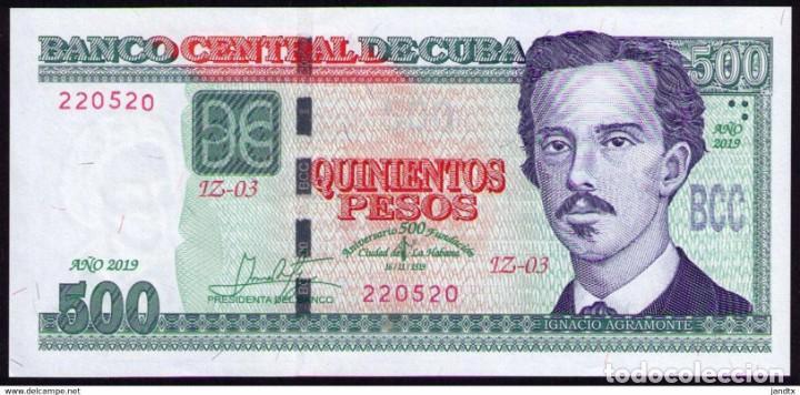 Billetes extranjeros: CUBA 2019 500 PESOS CONMEMORATIVO REMPLAZO PLANCHA SC-UNC SECUENCIA PICK131CR - Foto 2 - 244821800
