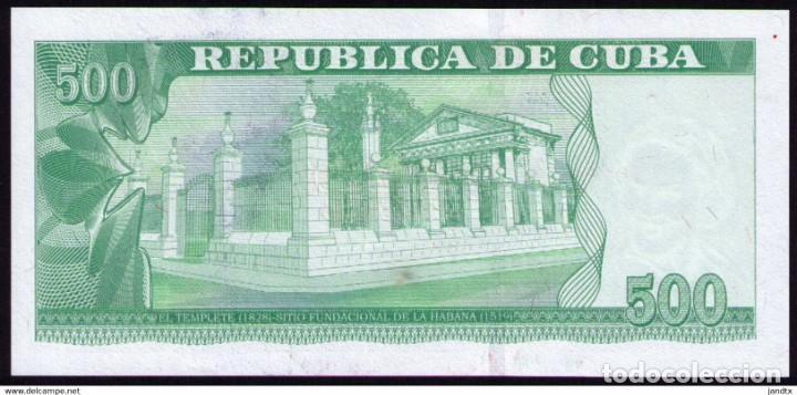 Billetes extranjeros: CUBA 2019 500 PESOS CONMEMORATIVO REMPLAZO PLANCHA SC-UNC SECUENCIA PICK131CR - Foto 4 - 244821800