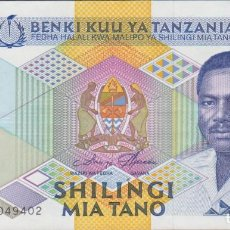 Billetes extranjeros: BILLETES - TANZANIA - 500 SHILINGI (1989) - SERIE AJ - PICK-21A (EBC). Lote 244847830