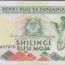 Billetes extranjeros: BILLETES - TANZANIA - 1000 SHILINGI (1997) - SERIE BF - PICK-31 (EBC+). Lote 244848630