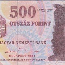Billetes extranjeros: BILLETES HUNGRIA - 500 FORINT 2001- SERIE - EB - PICK-188A (SC). Lote 244947140