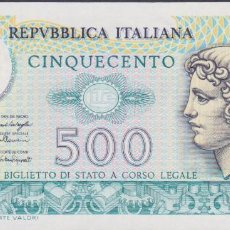 Billetes extranjeros: BILLETES - ITALIA 500 LIRE 20-12-76 - SERIE P 13 - PICK-95 (EBC+). Lote 245014700