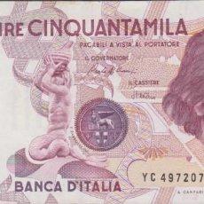 Billetes extranjeros: BILLETES - ITALIA - 50.000 LIRE 1984 - SERIE YC-M - PICK-113A (EBC-). Lote 245054480