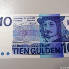 Billetes extranjeros: BILLETE HOLANDA 10 GULDEN 1968 UNC FEDEROTA. Lote 245109265
