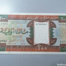 Billetes extranjeros: BILLETE MAURITANIA 200 OUGUIYA 2002 UNC FEDEROTA. Lote 245109795