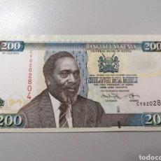 Billetes extranjeros: BILLETE KENYA 200 SHILLINGI 2010 UNC FEDEROTA. Lote 245110145