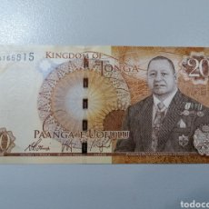 Billetes extranjeros: BILLETE TONGA 20 PA'ANGA 2015 UNC FEDEROTA. Lote 245110835