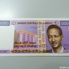 Billetes extranjeros: BILLETE DJIBOUTI 5000 FRANCOS 2002 UNC FEDEROTA. Lote 245111485