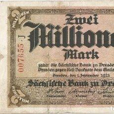 Billetes extranjeros: ALEMANIA - GERMANY 2.000.000 MARK 1-9-1923 SASCHEN PK S 963. Lote 245128835