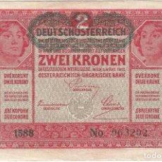 Billetes extranjeros: AUSTRIA 2 KRONEN 1919 PK 50. Lote 245129160