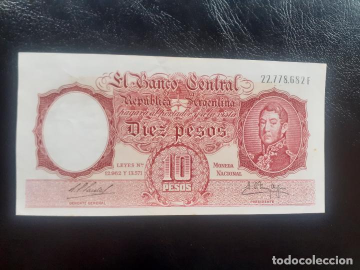 ARGENTINA. 10 PESOS SC- (Numismática - Notafilia - Billetes Internacionales)