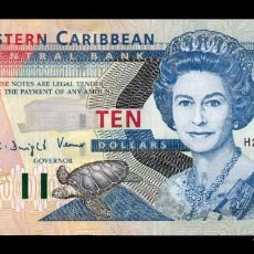 Billetes extranjeros: ESTADOS CARIBE EAST CARIBBEAN ST. VINCENT 10 DOLLARS 2003 PICK 43V SC UNC. Lote 245395880