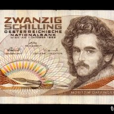 Billetes extranjeros: AUSTRIA 20 SCHILLING 1986 MORITZ MICHAEL DAFFINGER PICK 148 MBC VF. Lote 245397575