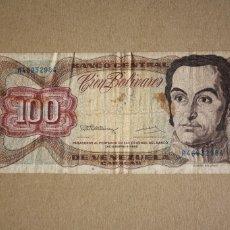Billetes extranjeros: VENEZUELA - 100 BOLIVARES 1992 SERIE H46932984 BC-. Lote 245397625