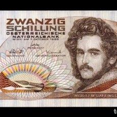 Billetes extranjeros: AUSTRIA 20 SCHILLING 1986 MORITZ MICHAEL DAFFINGER PICK 148 EBC XF. Lote 245399155