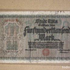 Billetes extranjeros: ALEMANIA - STADT KOLN ( ESTADO DE COLONIA) - 500000 MARCOS 1923 BC-. Lote 245399170