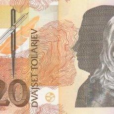 Billetes extranjeros: ESLOVENIA 20 TOLARJEV 1992. Lote 245909660