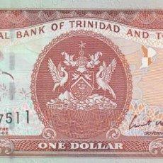 Billetes extranjeros: TRINIDAD Y TOBAGO 1 DOLLAR 2002. Lote 245910750