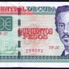 Billetes extranjeros: CUBA 500 PESOS 2018 SC-UNC PICK 131A. Lote 245915275