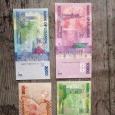Billetes extranjeros: LOTE DE BILLETES DE UGANDA. Lote 245915825