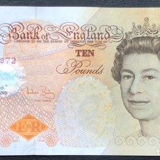 Billetes extranjeros: BILLETE INGLATERRA 10 LIBRAS 2000 MBC.. Lote 245919420
