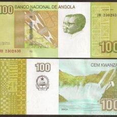 Billetes extranjeros: ANGOLA. 100 KWANZAS 2012. S/C. CASCADA BINGA.. Lote 245952170