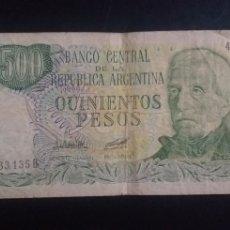 Billetes extranjeros: BILLETE DE 500 PESOS REPUBLICA DE ARGENTINA. Lote 246011740