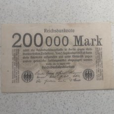 Notas Internacionais: ALEMANIA. 200000 MARCOS DE 1923. Lote 246103235