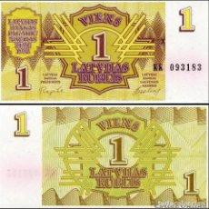 Billetes extranjeros: LETONIA - 1 RUBLIS DE 1992 - SIN CIRCULAR. Lote 246161910