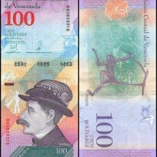 Billetes extranjeros: VENEZUELA 100 BOLIVARES SOBERANOS 2018 P NEW EZEQUIEL ZAMORA - MONKEY UNC. Lote 246224360