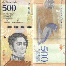Billetes extranjeros: VENEZUELA 500 BOLIVARES SOBERANOS 2018 P NEW SIMON BOLIVAR - TURPIAL UNC. Lote 246238420
