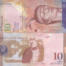 Billetes extranjeros: VENEZUELA 10 BOLIVARES 2013 P 90D UNC. Lote 246238670