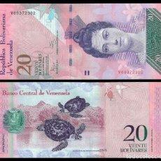 Billetes extranjeros: VENEZUELA 20 BOLIVARES 2014 P 91G UNC. Lote 246238960