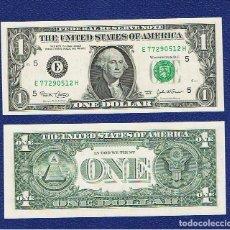 Billetes extranjeros: ESTADOS UNIDOS-USA : 1 DOLAR 2003 ( E.RICHMOND,VA ) SC.UNC. PK.515 A.PREFIX H. Lote 270243238